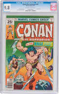 Bronze Age (1970-1979):Miscellaneous, Conan the Barbarian #65 (Marvel, 1976) CGC NM/MT 9.8 Off-white towhite pages....