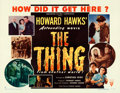 Movie Posters:Science Fiction, The Thing from Another World (RKO, 1951). Half She...