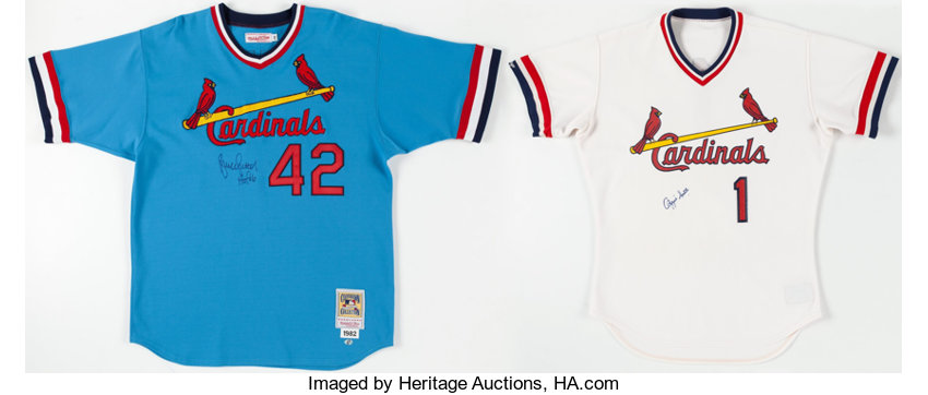 buy online 70ea2 7ff72 Bruce Sutter and Ozzie Smith Signed St. Louis Cardinals ...