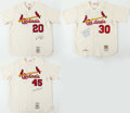 Autographs:Jerseys, St. Louis Cardinals Signed Jersey Lot of 3 - Orlando Cepeda, Lou Brock & Bob Gibson....