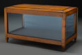 Furniture : Continental, A Biedermeier Cherry Tabletop Glazed Vitrine, 19th...