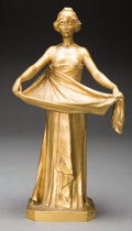 Sculpture, Maurice Bouval (French, 1830-1930). Femme drapée. Gilt bronze. 11 inches (27.9 cm) high. Inscribed toward bottom of base...