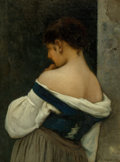 Fine Art - Painting, European:Antique  (Pre 1900), Emmanuel Benner (French, 1836-1896). Reverie, 1881. Oil oncanvas. 27-1/4 x 20-1/2 inches (69.2 x 52.1 cm). Signed and d...