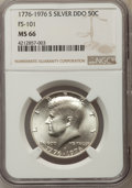 Kennedy Half Dollars, 1976-S 50C Silver, Doubled Die Obverse, FS-101, MS66 NGC. NGCCensus: (6/4). PCGS Population: (21/15). Mintage 11,000,000....
