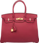 Hermes 35cm Rouge Grenat Togo Leather Birkin Bag with Gold Hardware X, 2016  Condition: 2