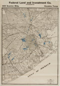 Books:Maps & Atlases, [Map]. Houston, Texas, Produced by the Federal Land and Investment Co....