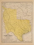 Books:Maps & Atlases, [Map]. Samuel A. Mitchell. Map of the State of Texas....