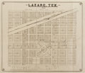 Books:Maps & Atlases, Real Estate Promotional City Plan for Lazare, Texas....