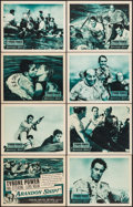 """Movie Posters:Adventure, Abandon Ship! (Columbia, 1957). Lobby Card Set of 8 (11"""" X 14"""").Adventure.. ... (Total: 8 Items)"""