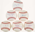 "Autographs:Baseballs, Hall of Fame ""Pitchers"" Single Signed Baseballs Lot of 6.. ..."