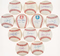 Autographs:Baseballs, Hall of Fame Single Signed Baseballs Lot of 12. . ...