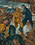 Paintings, Amos Sewell (American, 1901-1983). Peg-legged Captain. Oil on board. 32 x 24 in. (sight). Signed lower right. ...