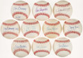 Baseball Collectibles:Balls, Baseball Greats Single Signed Baseballs Lot of 10 - IncludesSeaver, Drysdale, Bunning, & More. . ...