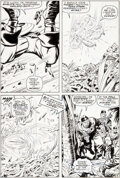 Original Comic Art:Panel Pages, Jack Kirby and Syd Shores Captain America #101 Story Page 9Original Art (Marvel, 1968)....