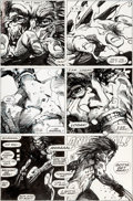 Original Comic Art:Panel Pages, Barry Windsor-Smith Marvel Comics Presents #84 Story Page 8Wolverine/Weapon X Enhanced Original Art (Marvel, 1991...