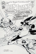 Original Comic Art:Covers, Nick Cardy (lightboxed) and Dave Gibbons Silver Age: TeenTitans #1 Cover Original Art (DC, 2000)....
