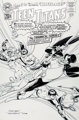 Nick Cardy (lightboxed) and Dave Gibbons Silver Age: Teen Titans #1 Cover Original Art (DC, 2000)