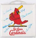 Autographs:Others, St. Louis Cardinals Multi-Signed Seat Cushion.. ...