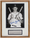 Autographs:Photos, Mickey Mantle Signed Photograph Display.. ...