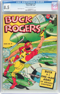 Buck Rogers #4 (Eastern Color, 1942) CGC VF+ 8.5 Cream to off-white pages