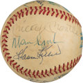 Baseball Collectibles:Balls, 1980's Baseball Greats Multi-Signed Baseball. . ...