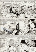 Original Comic Art:Panel Pages, Jack Kirby and Dick Ayers Sgt. Fury #13 Story Page 15Original Art (Marvel, 1964)......