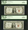 Small Size:World War II Emergency Notes, Fr. 2300 $1 1935A Hawaii Silver Certificates. Two Examples. PCGS Gem New 65PPQ and 66PPQ.. ... (Total: 2 notes)