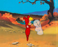 Animation Art:Production Cel, The New Casper Cartoon Show Casper and Wendy Production CelSetup and Animation Drawings Group (Harveytoons/Paramount,...