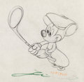 Animation Art:Production Drawing, Canine Caddy Mickey Mouse Animation Drawing (Walt Disney,1941)....