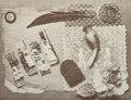 Prints & Multiples, Betye Saar (b. 1926). Untitled, 1976. Lithograph on wove paper. 13-7/8 x 18-1/8 inches (35.2 x 46.0 cm) (sheet). Signed,...