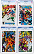 Modern Age (1980-Present):Miscellaneous, Marvel Modern Age Comics CGC-Graded Group of 4 (Marvel, 1985-91).... (Total: 4 Comic Books)