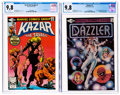 Modern Age (1980-Present):Miscellaneous, Ka-Zar the Savage #1/Dazzler #1 CGC-Graded Group (Marvel, 1981) CGC NM/MT 9.8.... (Total: 2 Comic Books)