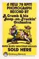 Robert Crumb R. Crumb & His Keep-on-Truckin' Orchestra Poster (Kitchen Sink Press/Krupp Comic Works, 1972)