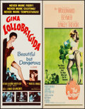 "Movie Posters:Comedy, Beautiful But Dangerous & Other Lot (20th Century Fox, 1955).Inserts (2) (14"" X 36""). Comedy.. ... (Total: 2 Items)"