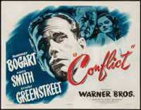 "Conflict (Warner Brothers, 1945). Half Sheet (22"" X 28""). Film Noir"