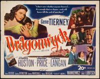 "Dragonwyck (20th Century Fox, 1946). Half Sheet (22"" X 28""). Thriller"