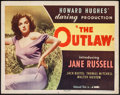 "Movie Posters:Western, The Outlaw (United Artists, 1946). Half Sheet (22"" X 28""). Western.. ..."
