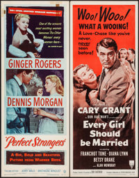 "Perfect Strangers & Other Lot (Warner Brothers, 1950). Inserts (2) (14"" X 36""). Comedy. ... (Total: 2..."