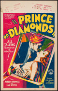 "Movie Posters:Crime, Prince of Diamonds (Columbia, 1930). Window Card (14"" X 22""). Crime.. ..."