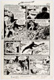 """Dick Ayers G.I. Combat #232: """"The Frozen Trigger"""" Complete 1-Page Story Original Art (DC Comics, 1981).'"""