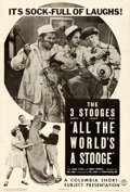 "Movie Posters:Comedy, The Three Stooges in All the World's a Stooge (Columbia, 1941). OneSheet (27"" X 41"").. ..."