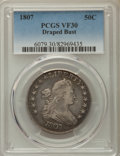 Early Half Dollars: , 1807 50C Draped Bust VF30 PCGS. PCGS Population: (160/694). NGCCensus: (76/475). Mintage 301,076. ...