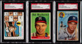 Autographs:Sports Cards, Signed 1954-73 Topps Eddie Mathews SGC Authentic Lot of 3....