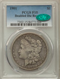 1901 $1 Doubled Die Fine 15 PCGS. CAC. PCGS Population: (6/216). NGC Census: (5/97)