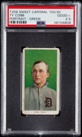 Baseball Cards:Singles (Pre-1930), 1909-11 T206 Sweet Caporal Ty Cobb (Green Portrait) PSA Good+2.5....