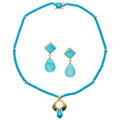 Estate Jewelry:Lots, Turquoise, Diamond, Peridot, Gold Jewelry . ... (Total: 2 Items)