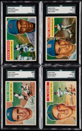 Baseball Cards:Lots, 1956 Topps Hall of Famers SGC Graded Lot of 4....