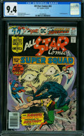 Bronze Age (1970-1979):Superhero, All Star Comics #62 (DC, 1976) CGC NM 9.4 WHITE pages.