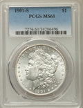 1901-S $1 MS61 PCGS. PCGS Population: (120/3028). NGC Census: (169/1629). CDN: $500 Whsle. Bid for problem-free NGC/PCGS...