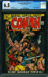 Conan the Barbarian #12 (Marvel, 1971) CGC FN+ 6.5 OFF-WHITE TO WHITE pages